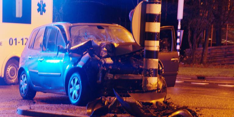 Gewonde bij ongeluk Friesestraatweg.