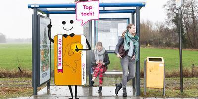 Het OV toppertje is een goedkope OV-chipkaart voor inwoners van Noord-Nederland.