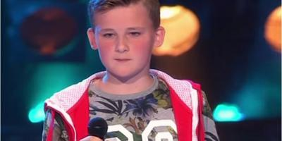 Bram Scheper. Foto screenshot auditie The Voice Kids 2016 (RTL 4)