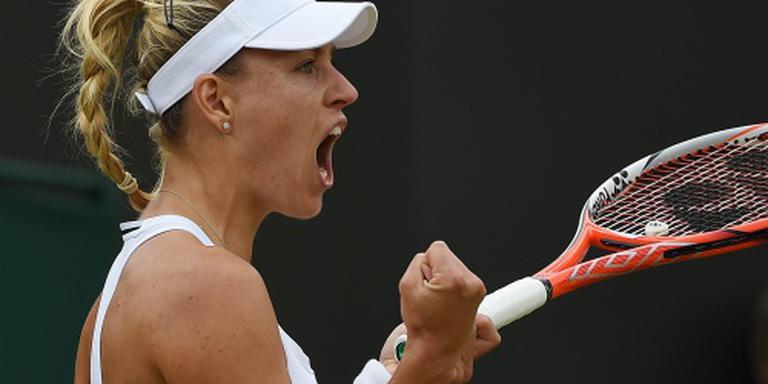 Kerber simpel naar kwartfinale Wimbledon
