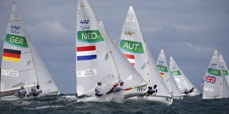Medalrace zeilduo Zegers/Van Veen uitgesteld
