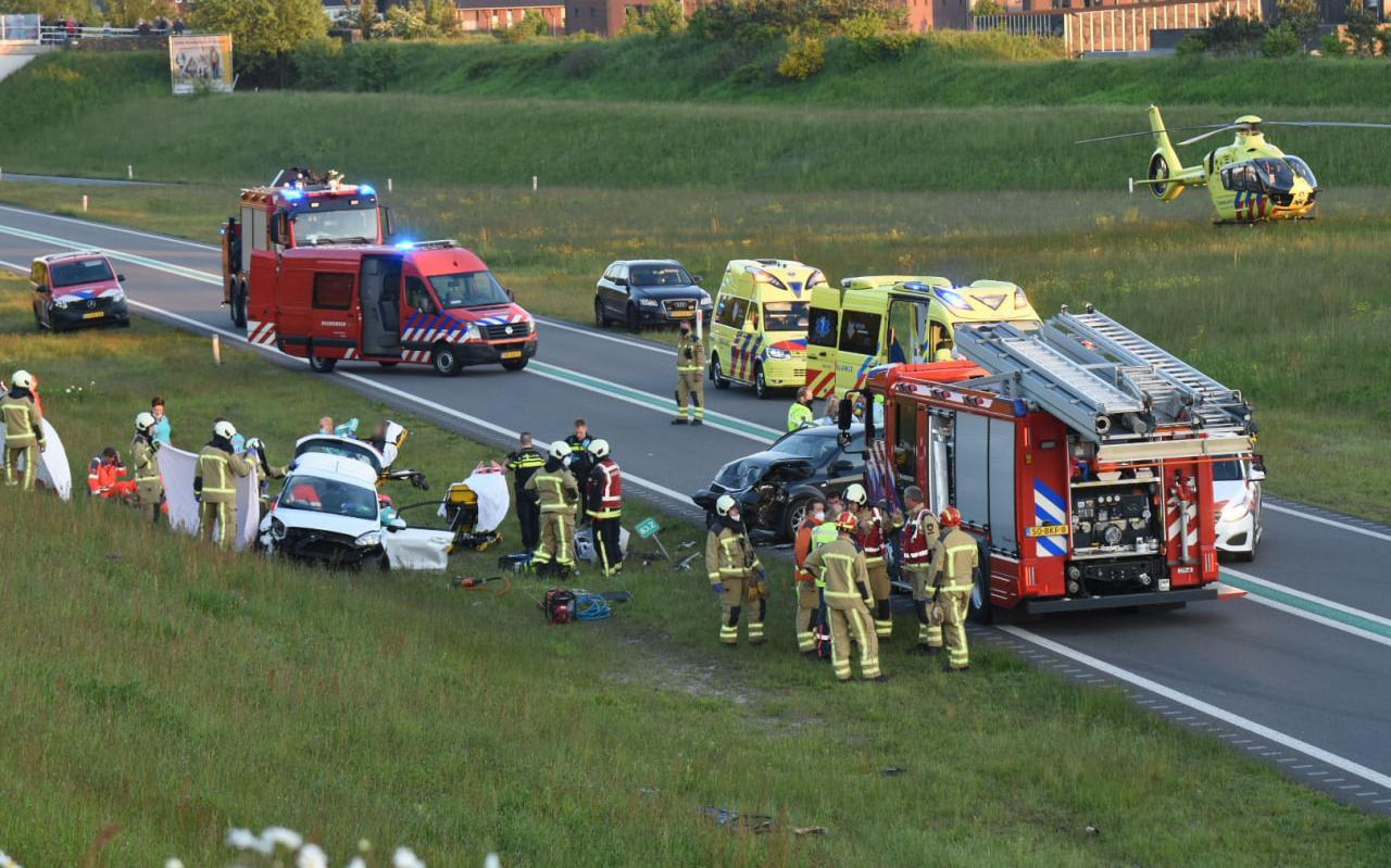 De chaos op de N34 bij Borger.