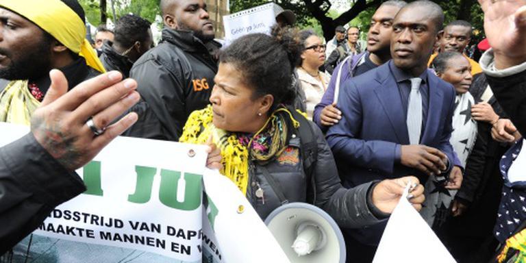 Betoging bij herdenking afschaffing slavernij