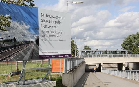 Aanleg extra spoor en perron bij station Emmen-Zuid gestart: houd rekening met weekenden zonder treinverkeer