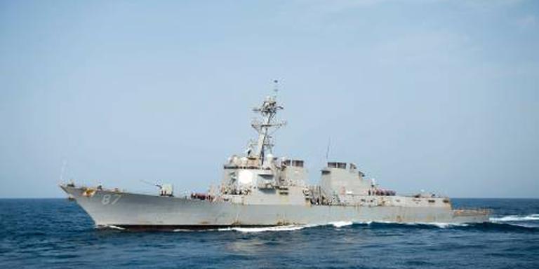 USS Mason weer beschoten met raketten