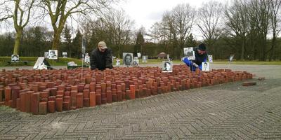 Het herdenkingsstenenveld bij Kamp Westerbork