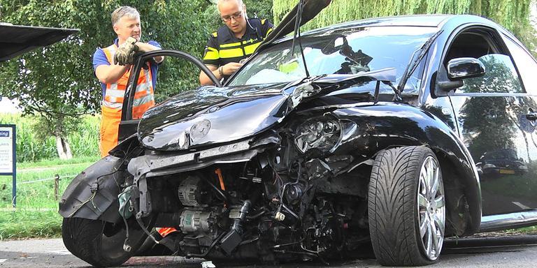 Auto-ongeluk in Schoonebeek