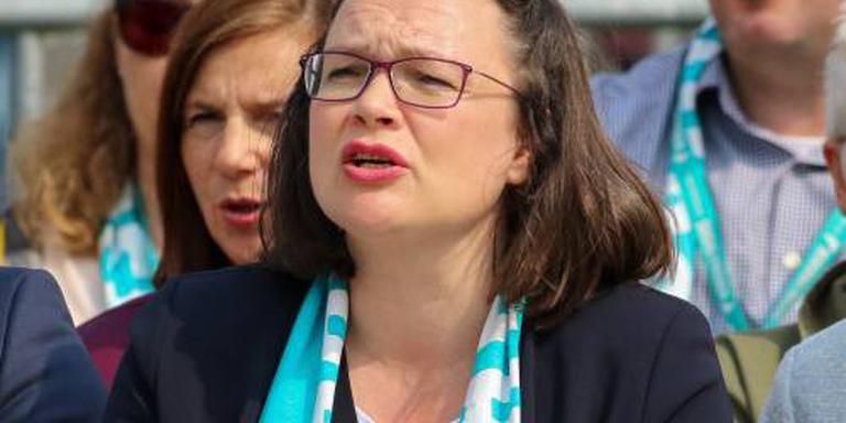 Nahles kan teruggang SPD niet stoppen