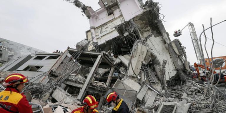 Doden en honderden gewonden na beving Taiwan