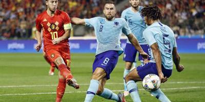 Oranje speelt gelijk tegen België