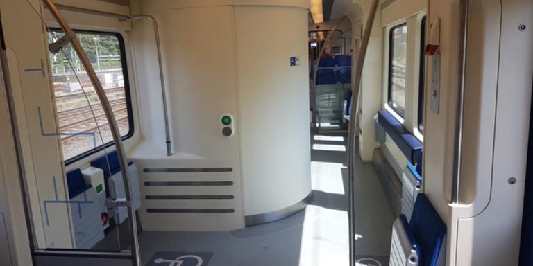 Het nieuwe toilet in de Sprinter is ook toegankelijk voor invaliden. Foto: NS