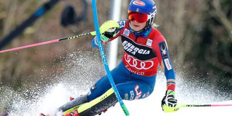 Shiffrin opnieuw de beste op de slalom