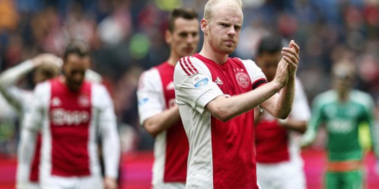 De Boer: nu een keer lucky Ajax