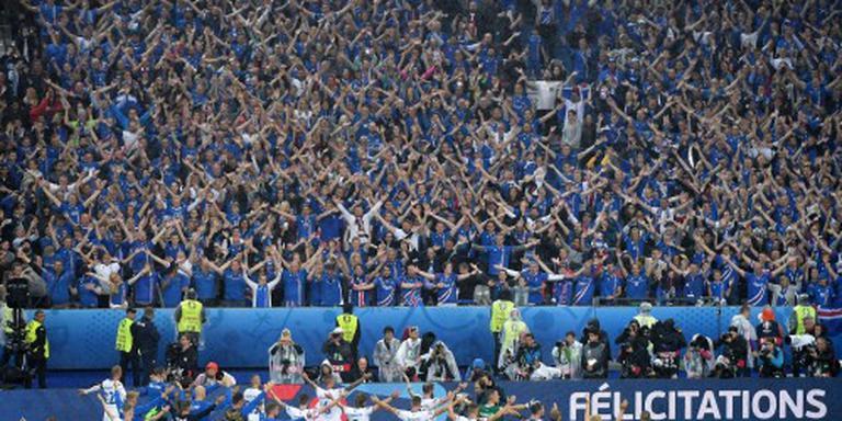 Heldenontvangst voor voetballers IJsland