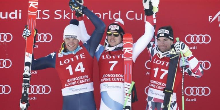 Janka wint super-G op olympische piste