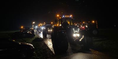 Enkele tientallen trekkers zijn rond 22 uur vanuit Noordhorn vertrokken richting Den Haag.