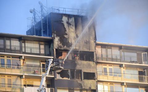 Brand in Dijkzichtflat ontstond op balkon op elfde verdieping