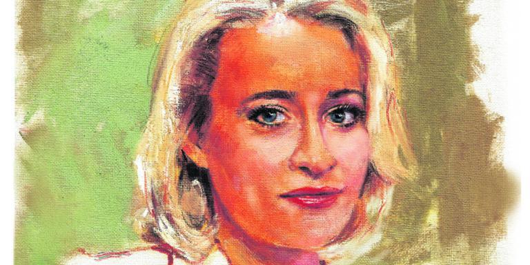 Eva Jinek. TEKENING DVHN