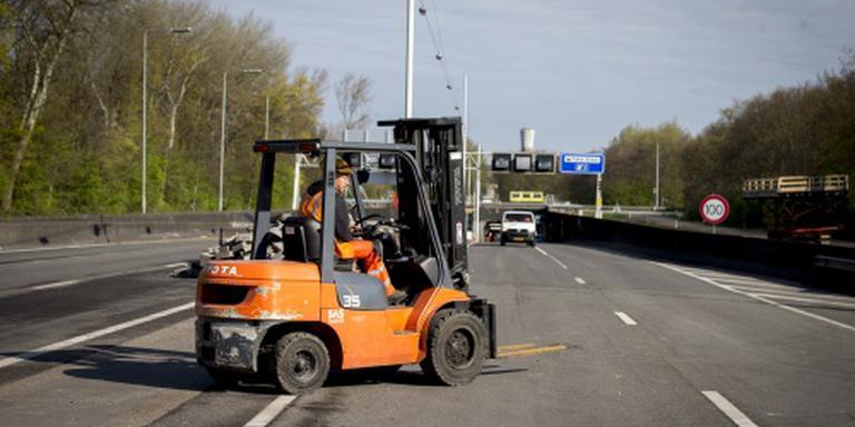 Veel wegen dicht door werkzaamheden