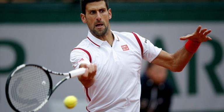 Djokovic weer de baan op na regenpauze