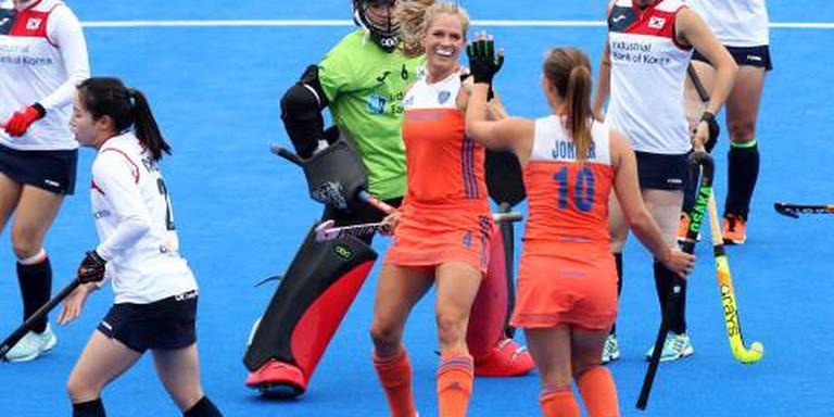 Hockeysters openen WK met ruime overwinning