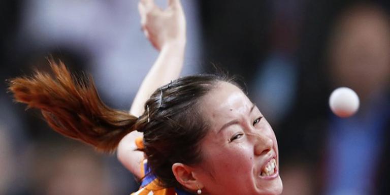 Li Jie bij laatste zestien