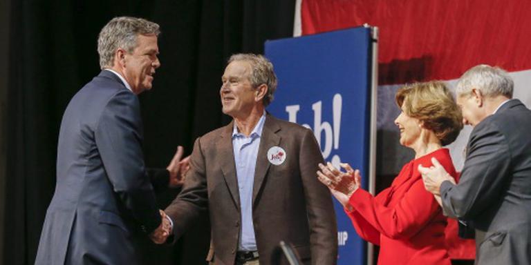 Bush helpt Bush tijdens campagne