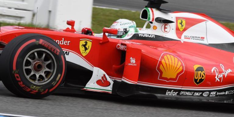 Ferrari test bredere banden