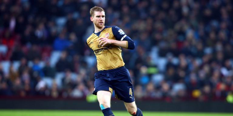 Arsenal lang zonder Mertesacker