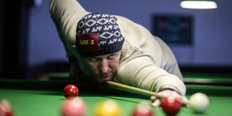 Snookerspeler Reind Duut. Foto: Jan Willem van Vliet