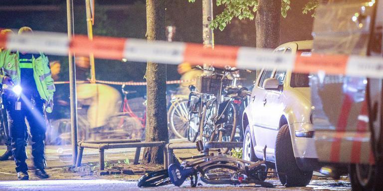 De weg was enige tijd afgezet zodat de politie onderzoek kon doen naar het ongeluk. Foto: ProNews