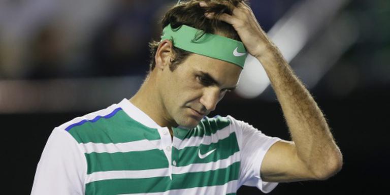 Geblesseerde Federer niet naar Rotterdam