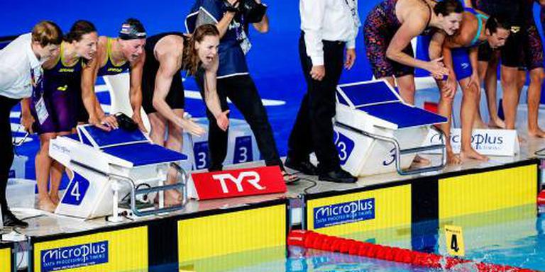 Estafettezwemsters verliezen Europese titel