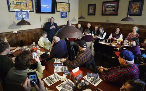 Mee-eten met kiezers in conservatief Iowa
