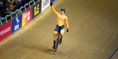 Lavreysen de beste op de sprint in Londen