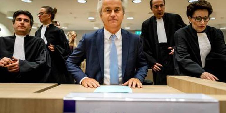 Wilders arriveert in rechtszaal Schiphol