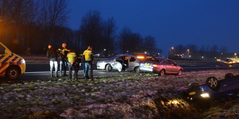 Tientallen ongelukken door ijzel in noorden