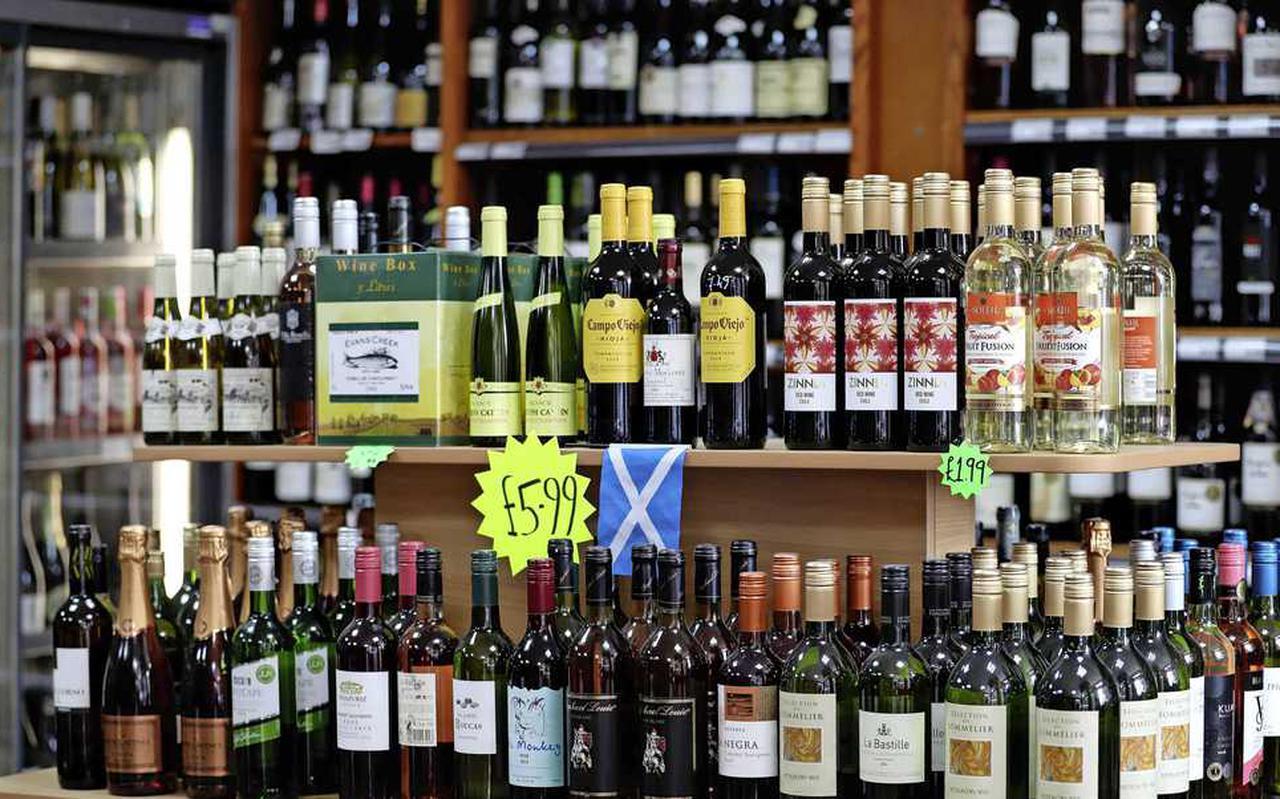 Een product als wijn zal fors in prijs stijgen.