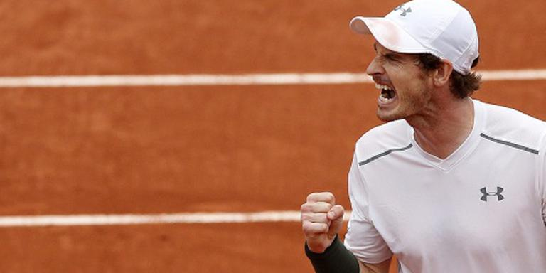 Murray naar laatste vier op Roland Garros