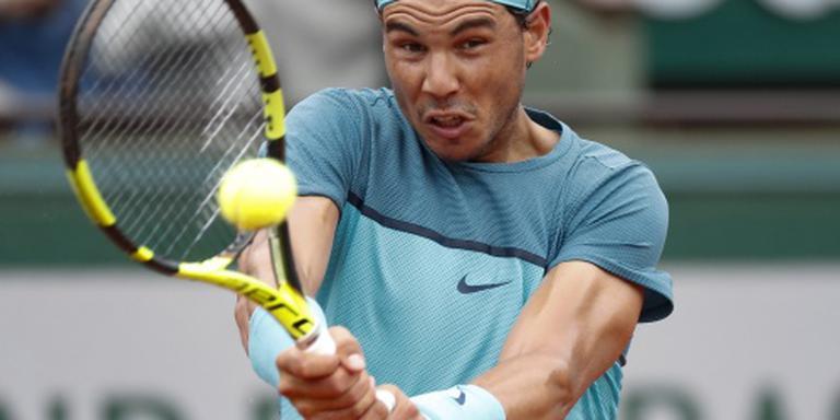 Nadal eenvoudig verder op Roland Garros