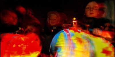 Lampions en snoep op de elfde van de elfde