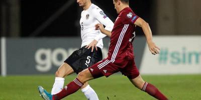 Letland pakt eerste punten tegen Oostenrijk