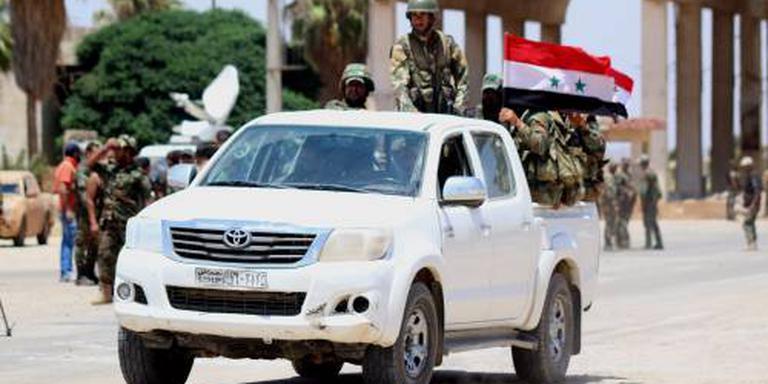 Syrisch leger hijst de vlag in Daraa