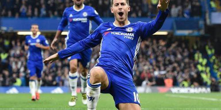 Hazard ziet twee concurrenten voor Chelsea