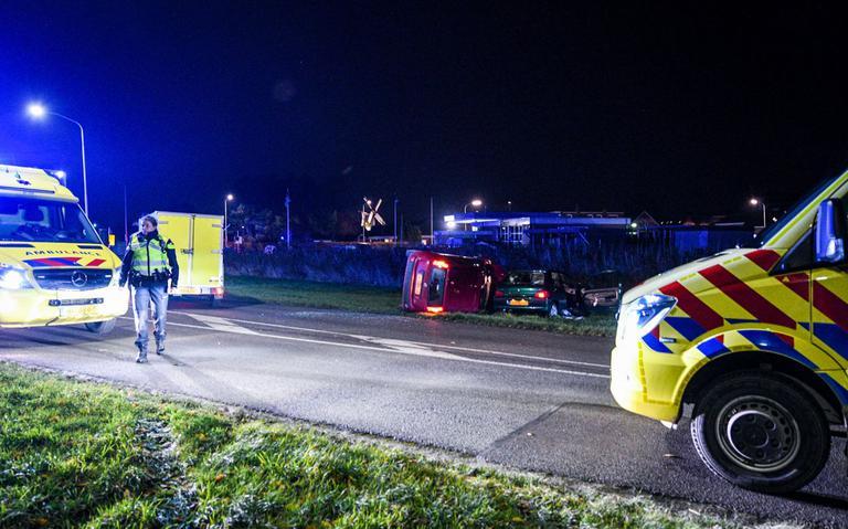 Meerdere gewonden bij ongeluk op N363 bij Uithuizen.