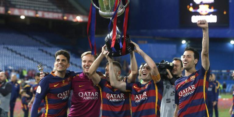 FC Barcelona gehuldigd in Camp Nou