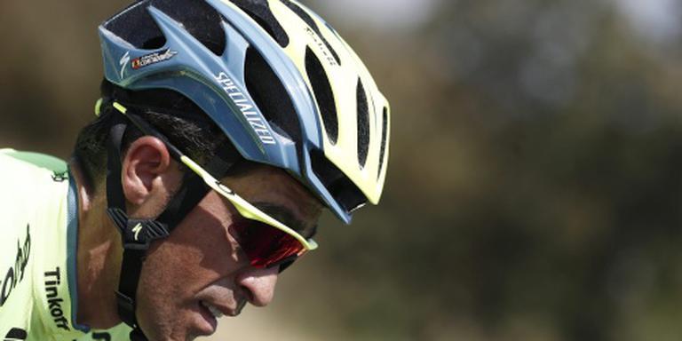 Contador zwaar gehavend, niets gebroken