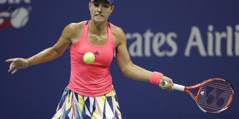 Kerber door naar kwartfinales op US Open