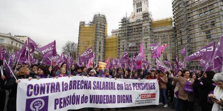 Miljoenen doen mee aan Spaanse vrouwenstaking