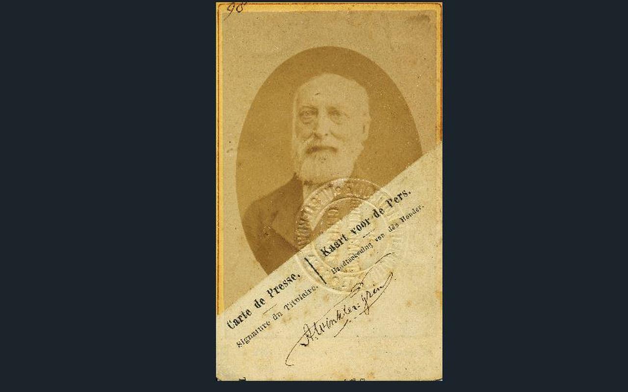 Perskaart van Winkler Prins.